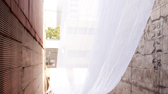 西横堀ワークショップー大阪丼池ストリート 「布」のある新しい風景ー